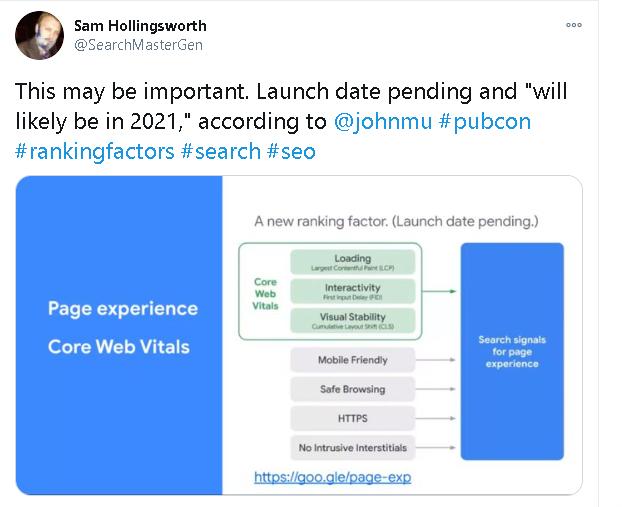 Google annuncia i Core Web Vitals